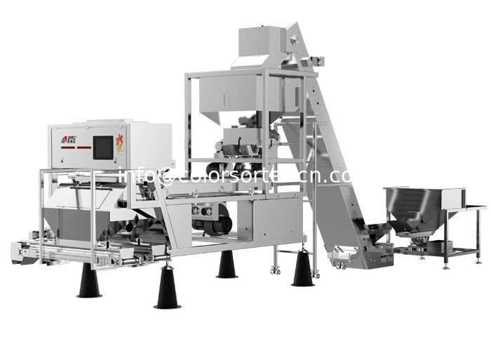 Belt color sorter machine for garlic,multi purpose function.color and shape sorting for garlic